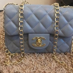 Pale Blue Mini Bag Crossbody